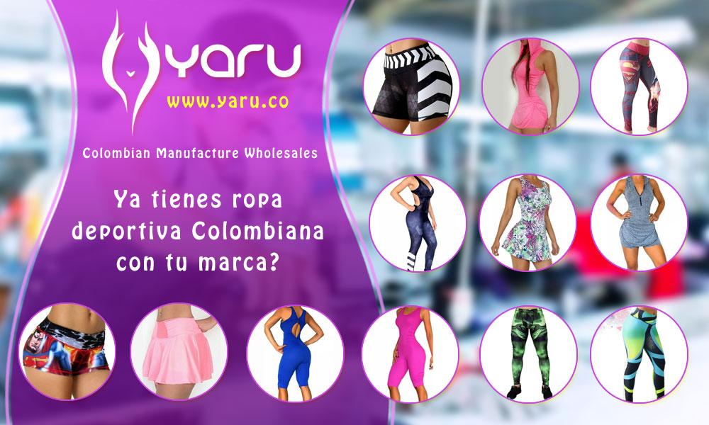 YARU fabrica de ropa Colombiana catalogos ventas por mayor